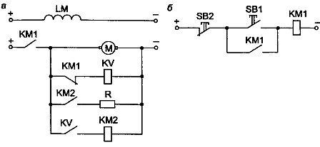 Узел схемы автоматического управления динамическим торможением в функции ЭДС