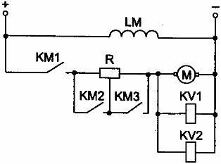 Схема пуска двигателя постоянного тока