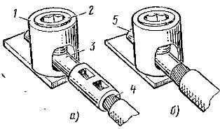 Соединение алюминиевой многопроволочной жилы с цилиндрическим зажимом