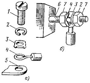 Соединение алюминиевой жилы сечением до 10 мм2 с выводами