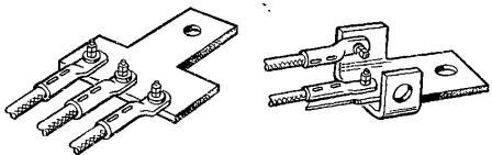 Переходные детали для подключения к выводам более двух наконечников