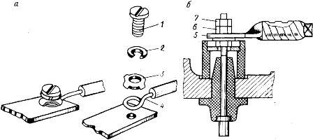 Присоединение жил кабелей и проводов сечением до 16 мм (а) и более к контактным зажимам электрооборудования