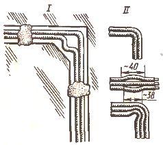 Выполнение поворотов проводов