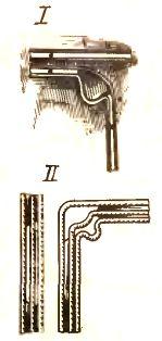 Выполнение поворота плоскими проводами