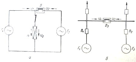 Принципиальная схема параллельной работы генераторов