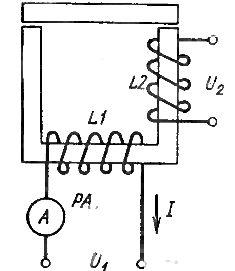 Схема испытания междувитковой изоляции обмоток на повышенной частоте тока
