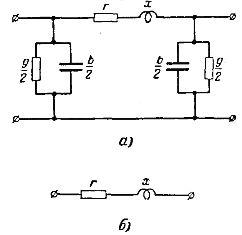 Схемы замещения линий