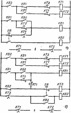Схема включения пускателя с двух мест