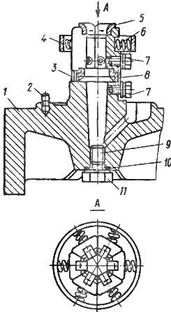 Неподвижный розеточный контакт выключателей ВМГ-10 и ВМПП-10