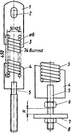 Отключающая пружина выключателя ВМГ-10