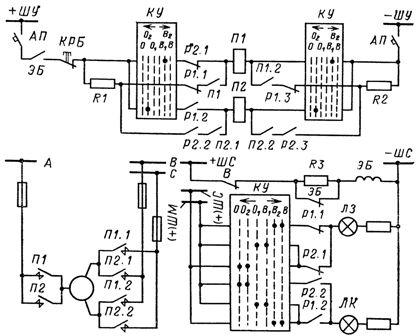 Схема управления электродвигательным приводом разъединителя