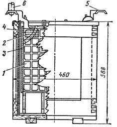 Аккумуляторы типа СК-24 в деревянном сосуде