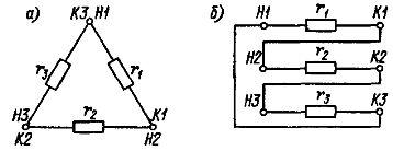 Соединение резисторов треугольником