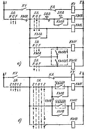 Схемы автоматической остановки привода