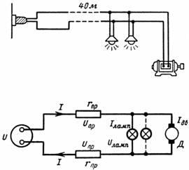 Рисунок и схема к задаче 8