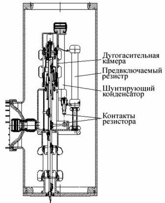 разрез ДУ одного полуполюса ВГБ-750-50/4000 У1