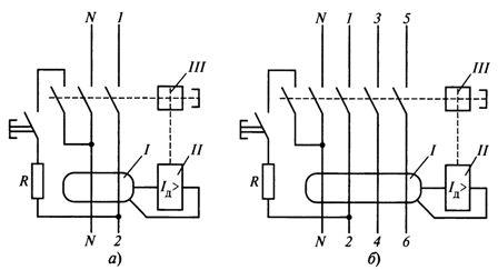 Электрические схемы устройств защитного отключения