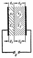 напряженность электрического поля в диэлектрике конденсатора