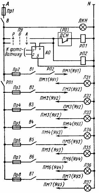 Принципиальная схема цепей