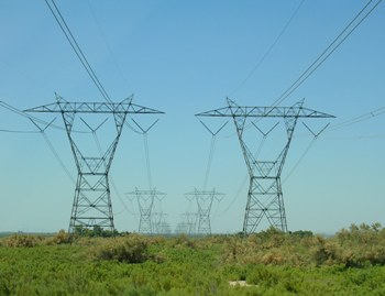 Воздушная линия электропередачи с металлическими опорами