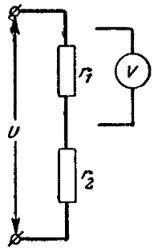 Схема включения вольтметра