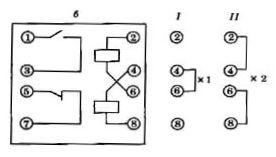 Схемы соединения обмоток реле