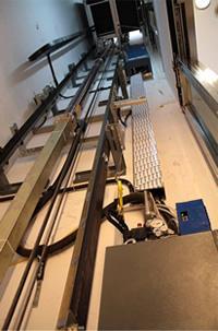 Аппараты управления в шахте лифта