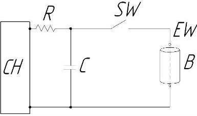 Схема электроимпульсного напыления