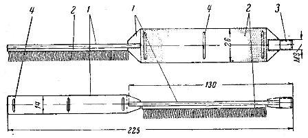 Ерш-щетка для зачистки внутренних стенок овальных и трубчатых соединителей средних сечений