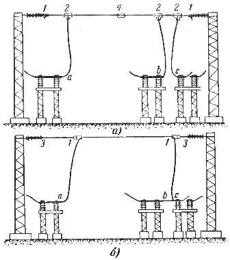 Схема контактов участка подстанции