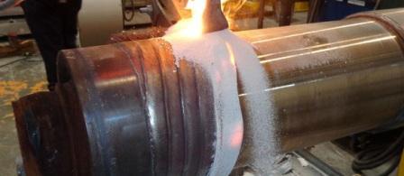 Наплавка ленточным электродом под слоем флюса