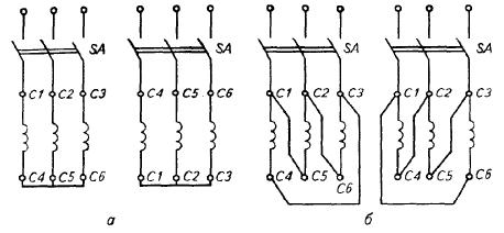 Схемы включения трехфазного асинхронного электродвигателя в сеть