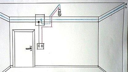 Монтажная схема включения лампа накаливания