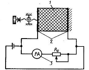 Схема кондуктометрического влагомера