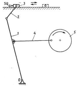 Принципиальная схема управления рычажным толкателем
