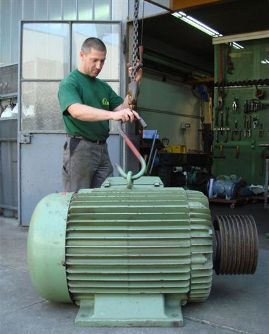 демонтаж электродвигателя