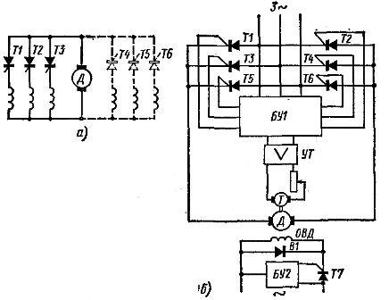 Схемы тиристорного привода