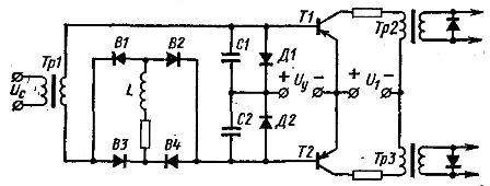 Схема управления тиристорами