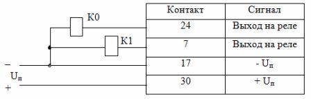 Схема подключения катушек реле