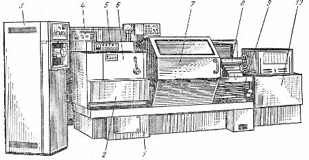 Общий вид станка модели 16К20Ф3