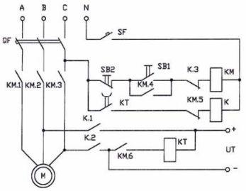 Схема динамического торможения двигателя