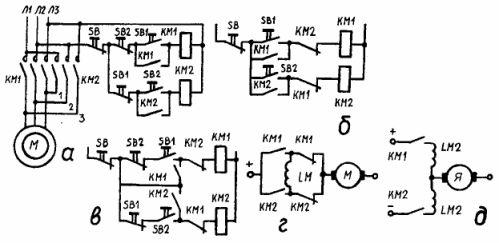 Схемы управления двигателями:
