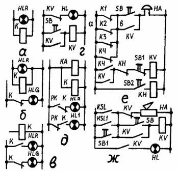 Схема сигнализации и блокировки фото 772
