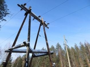 Электрическия сеть ВЛ 35 кВ с изолированной нейтралью
