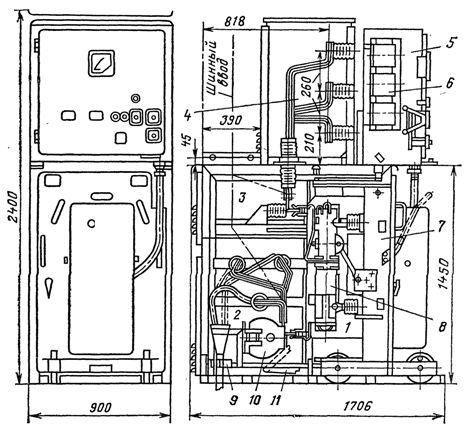 Шкаф серии К-ХII с выключателем ВМЦ-10