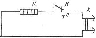 Схема регулирования температуры нагрева термоконтактом