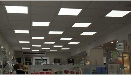 светодиодные панели в интерьере помещения