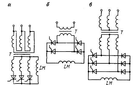 Схемы тиристорных выпрямителей