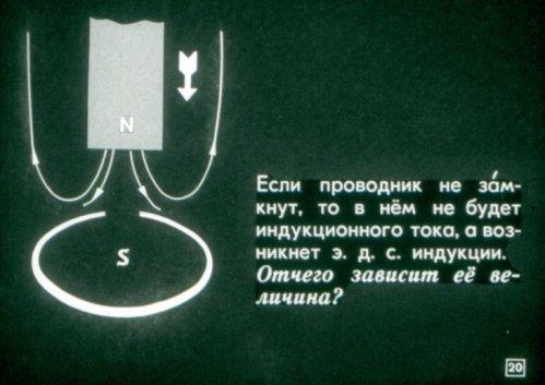 В незамкнутом проводнике нет индукционного тока