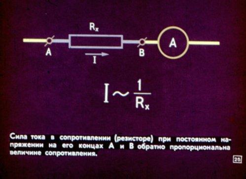 Сила тока в резисторе